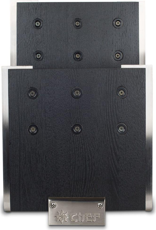 Магнитная подставка для ножей не требует специального обслуживания. Идеальная форма изделия позволяет удобно хранить ножи. Две рабочие поверхности выполнены из натурального ясеня с основанием из сверхпрочной нержавеющей стали. Ножи надежно удерживаются на подставке с помощью сильных магнитов. Особая конструкция обеспечивает быстрый доступ к необходимому ножу в любой момент. Изделие отвечает всем современным нормам и стандартам практичности, поскольку изготовлено по самым передовым технологиям. Магниты расположены на поверхности деревянного блока, и рабочая поверхность гарантирует свободную фиксацию.