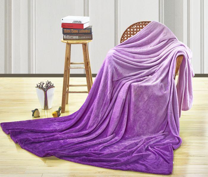 Покрывало Павлина Возбуждение, цвет: фиолетовый, 150 х 200 см покрывало karna покрывало evony цвет пудра 240х260 см