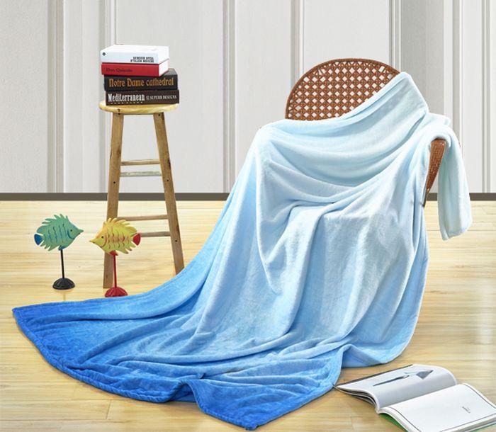 """Покрывало Павлина """"Доверие"""", цвет: синий, 150 х 200 см"""