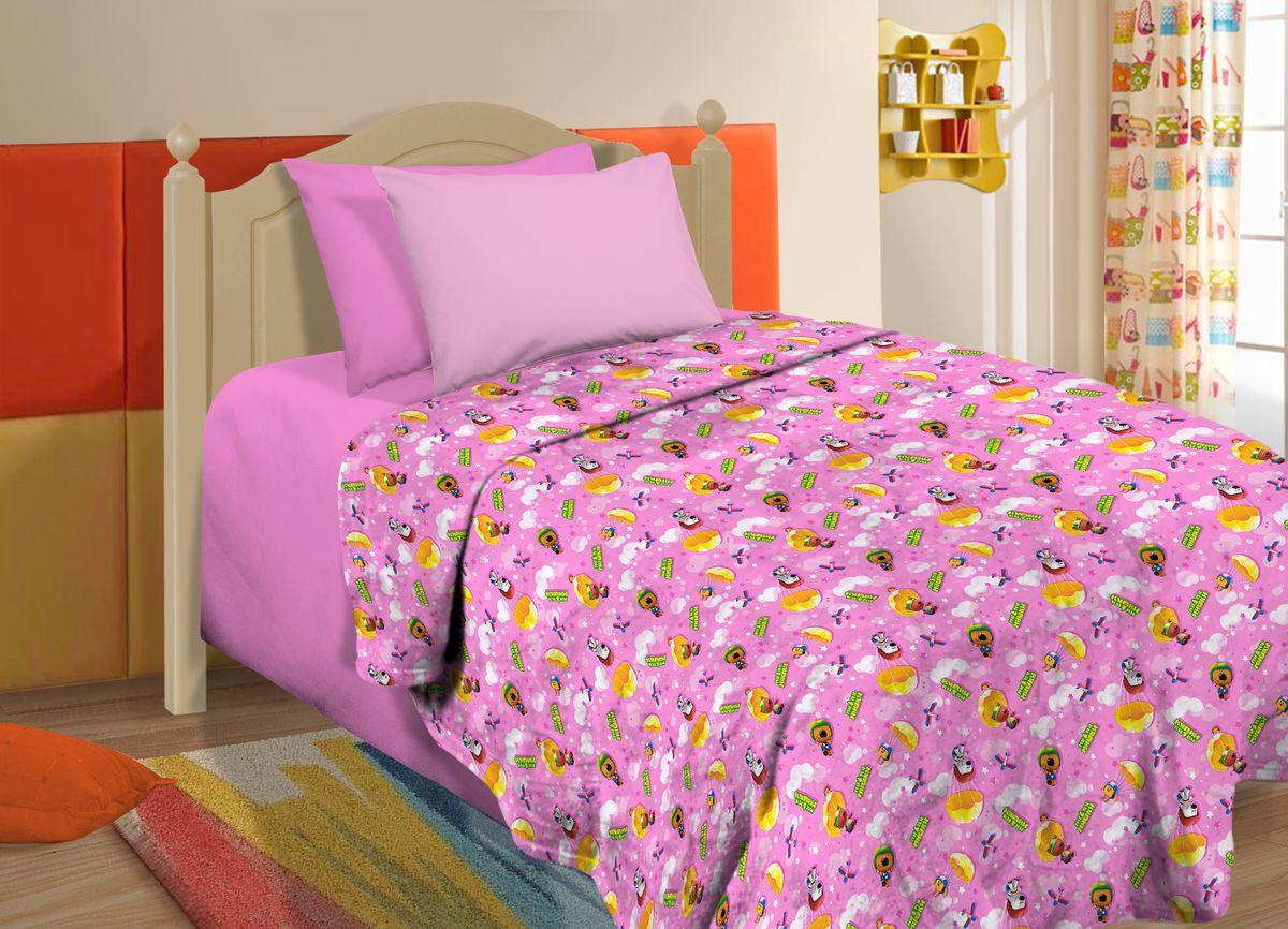 Плед Павлинка МимиМишки, цвет: розовый, 150 х 100 см4660006049845Плед с любимыми героями мультфильмов МимиМишки
