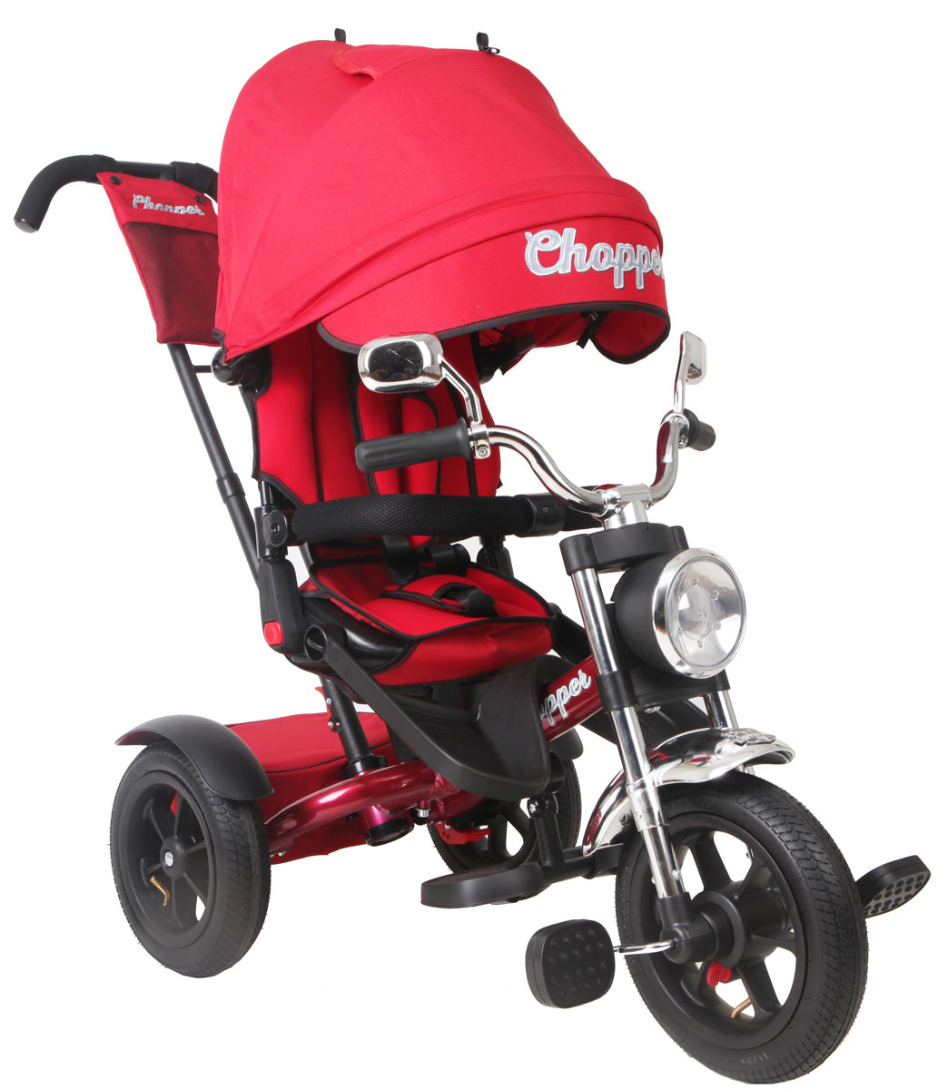 Chopper Велосипед трехколесный цвет красный CH1R велосипед трехколесный с ручкой chopper ch1mb черный