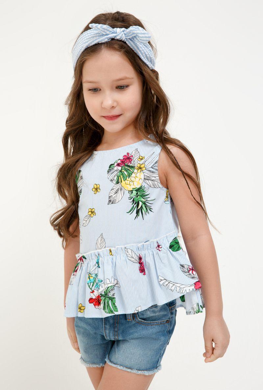 Блузка для девочки Acoola Morpho, цвет: разноцветный. 20220270029_8000. Размер 128