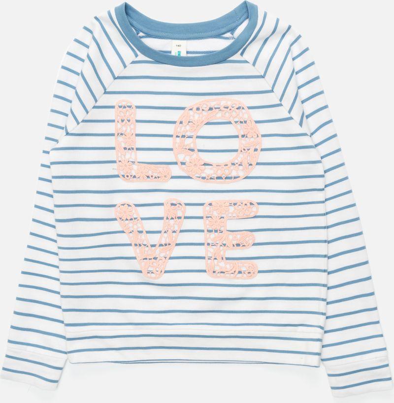 Джемпер для девочки Acoola Kapuas, цвет: белый, голубой. 20210100173_4400. Размер 164 джемперы acoola джемпер для девочек в полоску с кружевной аппликацией цвет ассорти размер 152 20210100173