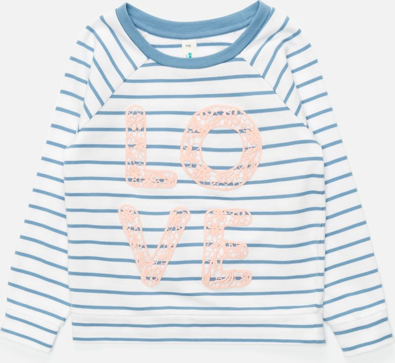 Джемпер для девочки Acoola Kapuas, цвет: белый, голубой. 20220100162_4400. Размер 128 джемперы acoola джемпер для девочек в полоску с кружевной аппликацией цвет ассорти размер 152 20210100173