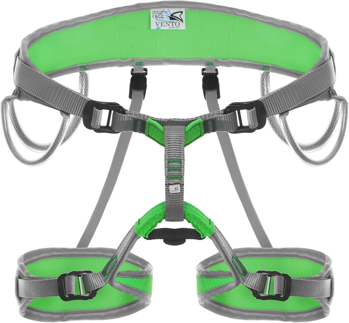 Система страховочная Vento Argon Toxic, цвет: зеленый, размер M/Lvnt 108tg 2Яркая альпинистская беседка «Argon» разработана для альпинистов, скалолазов и туристов. Это универсальная полностью регулируемая обвязка, сшитая по технологии «силового каркаса», что позволяет распределить нагрузку на всю площадь пояса и ножных обхватов. Две пряжки «дуплекс» на поясе предназначены для регулирования беседки, а также для правильного позиционирования страховочного кольца. Конструкция включает 4 широкие петли и большое количество слотов для развески снаряжения. Производится в двух размерах.Характеристики:Размер: 2Масса: 442 г Обхват пояса: 96 – 140 смОбхват ног: 54 – 70 смСоответствие: EN 12277Сертификат: СЕ (E-30-20010-15).