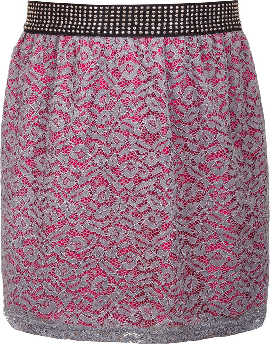 Юбка для девочки Nota Bene, цвет: серый. 182220304_20. Размер 134