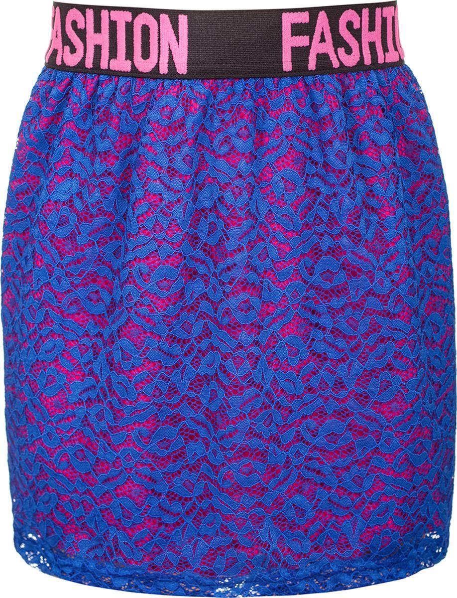 Юбка для девочки Nota Bene, цвет: васильковый. 182220305_81. Размер 134