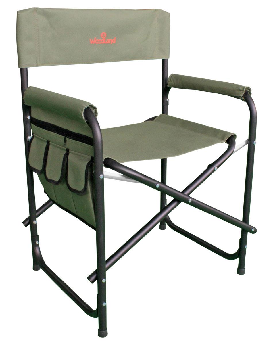 Кресло складное Woodland Outdoor Plus, цвет: оливковый, черный, 56 x 57 x 50 (81) см