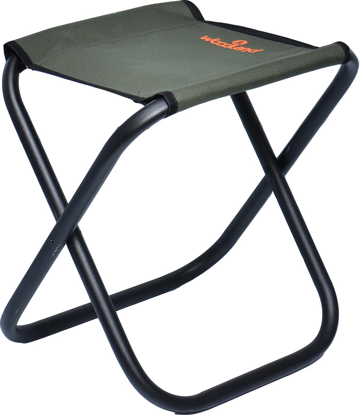 Стул складной Woodland Compact MAX, кемпинговый, цвет: оливковый, черный, 44,5 x 35 х 44 см стул складной bushido цвет синий 35 х 28 х 33 см