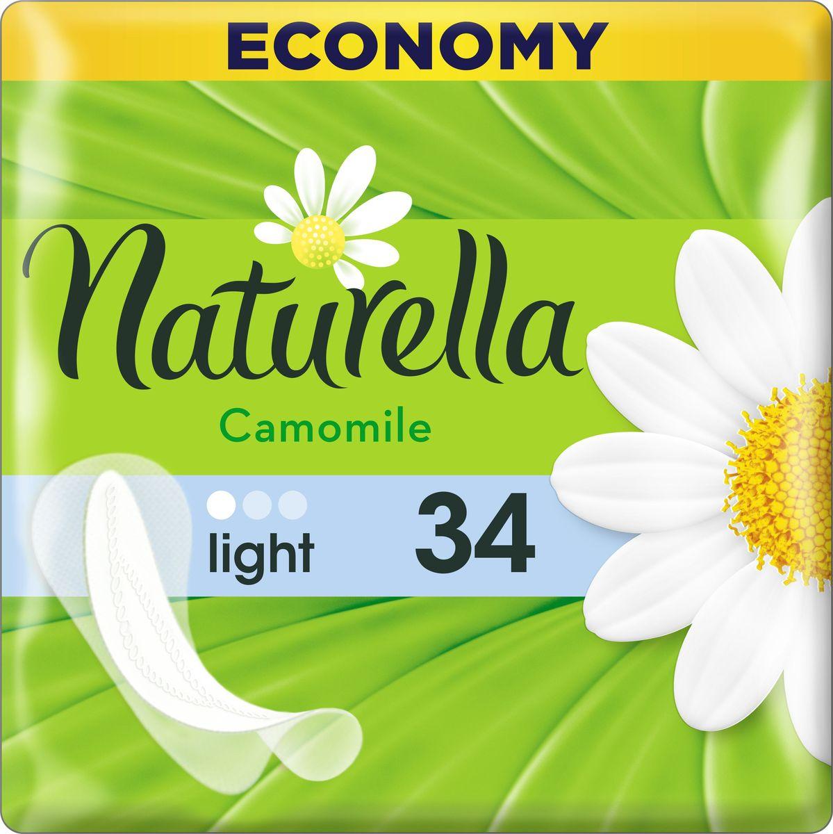 Naturella Женские гигиенические прокладки на каждый день Camomile Light Duo 34 шт naturella