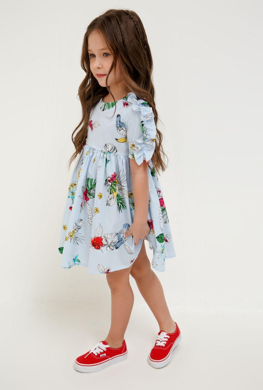Платье для девочки Acoola Acai, цвет: разноцветный. 20220200252_8000. Размер 110 платье overmoon by acoola overmoon by acoola ov003eguci55