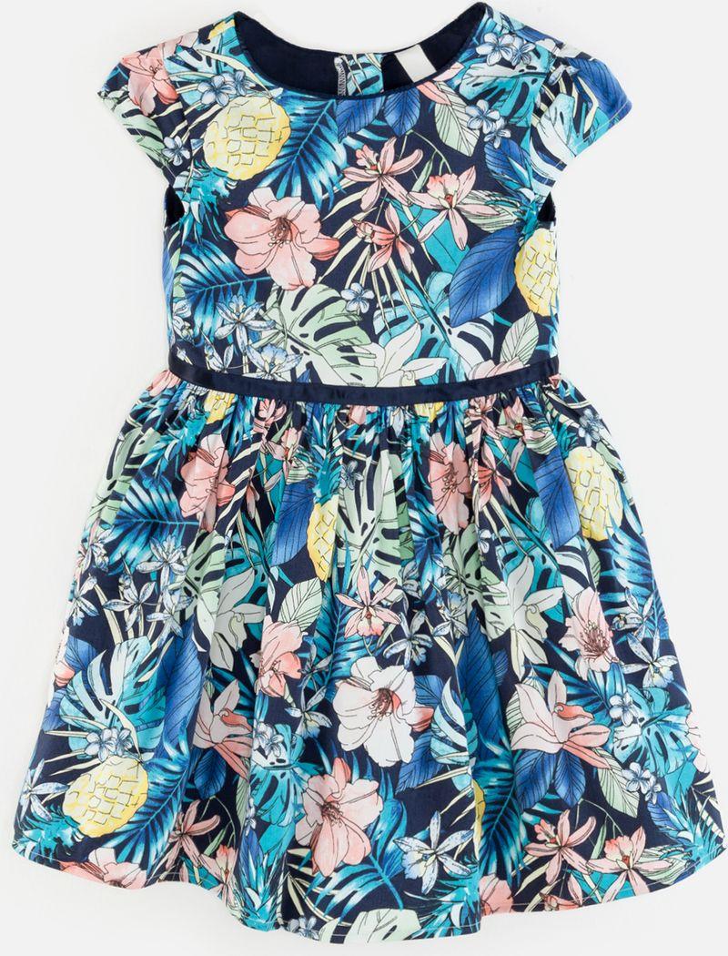Платье для девочки Acoola Tamarin, цвет: разноцветный. 20220200251_8000. Размер 11620220200251_8000Стильное платье Acoola идеально подойдет вашей дочурке. Платье выполнено из хлопка с добавлением полиуретана. Платье с короткими рукавами и круглым вырезом горловины дополнено красивым принтом. Модель застегивается на молнию, расположенную на спинке.