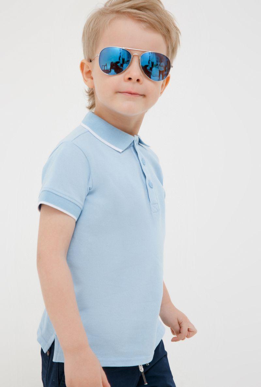 Поло для мальчика Acoola Zweig, цвет: голубой. 20120110103_400. Размер 10420120110103_400Очаровательная футболка-поло для мальчика Acoola идеально подойдет вашему ребенку. Изготовленная из 100% хлопка, она необычайно мягкая и приятная на ощупь, не сковывает движения и позволяет коже дышать, не раздражает даже самую нежную и чувствительную кожу ребенка, обеспечивая ему наибольший комфорт. Футболка-поло с короткими рукавами и отложным воротничком застегивается на три пуговицы сверху. По бокам предусмотрены небольшие разрезы. Спереди изделие украшено вышивкой в виде пальм. Однотонная футболка-поло будет великолепно сочетаться с любыми вещами. Оригинальный современный дизайн и модная расцветка делают эту футболку стильным предметом детского гардероба. В ней ваш маленький мужчина будет чувствовать себя уютно, комфортно и всегда будет в центре внимания!