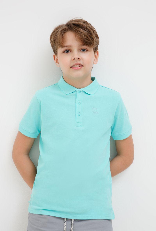 Поло для мальчика Acoola Zweig, цвет: синий. 20110110102_500. Размер 15220110110102_500Очаровательная футболка-поло для мальчика Acoola идеально подойдет вашему ребенку. Изготовленная из 100% хлопка, она необычайно мягкая и приятная на ощупь, не сковывает движения и позволяет коже дышать, не раздражает даже самую нежную и чувствительную кожу ребенка, обеспечивая ему наибольший комфорт. Футболка-поло с короткими рукавами и отложным воротничком застегивается на три пуговицы сверху. По бокам предусмотрены небольшие разрезы. Спереди изделие украшено вышивкой в виде пальм. Однотонная футболка-поло будет великолепно сочетаться с любыми вещами. Оригинальный современный дизайн и модная расцветка делают эту футболку стильным предметом детского гардероба. В ней ваш маленький мужчина будет чувствовать себя уютно, комфортно и всегда будет в центре внимания!