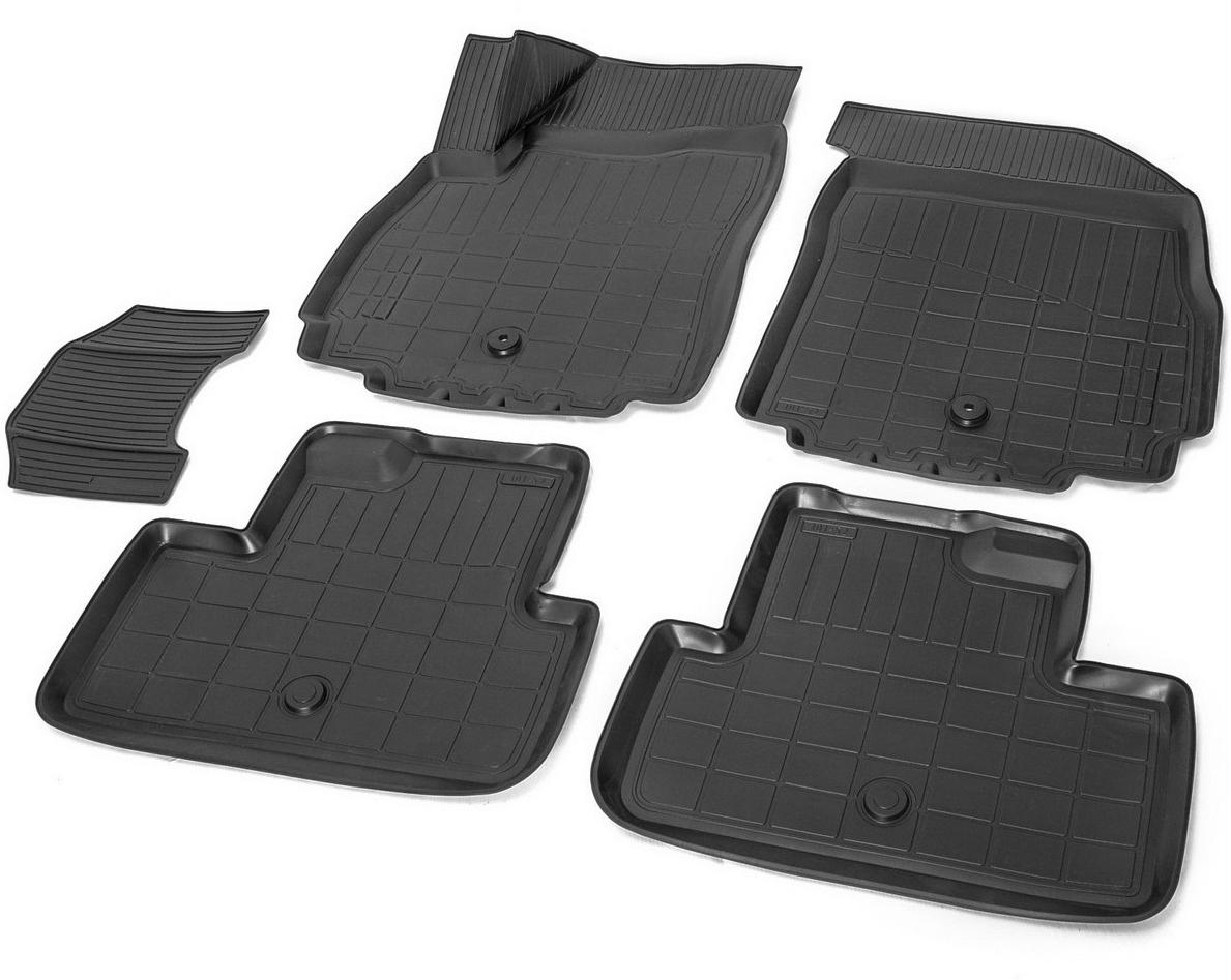 Купить Коврики салона Rival для Chevrolet Orlando 2011-, с крепежом, с перемычкой, полиуретан, 5 шт. 11005001