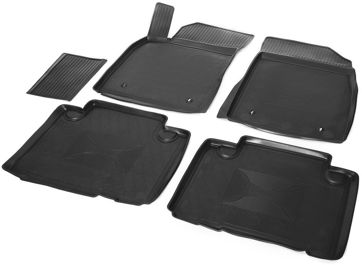 Купить Коврики салона Rival для Geely Emgrand X7 2013-, с крепежом, с перемычкой, полиуретан, 5 шт. 11902001