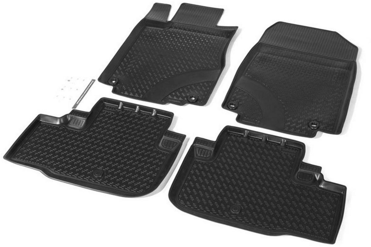 Купить Коврики салона Rival для Honda CR-V 2012-2015, с крепежом, полиуретан, 4 шт. 12101001