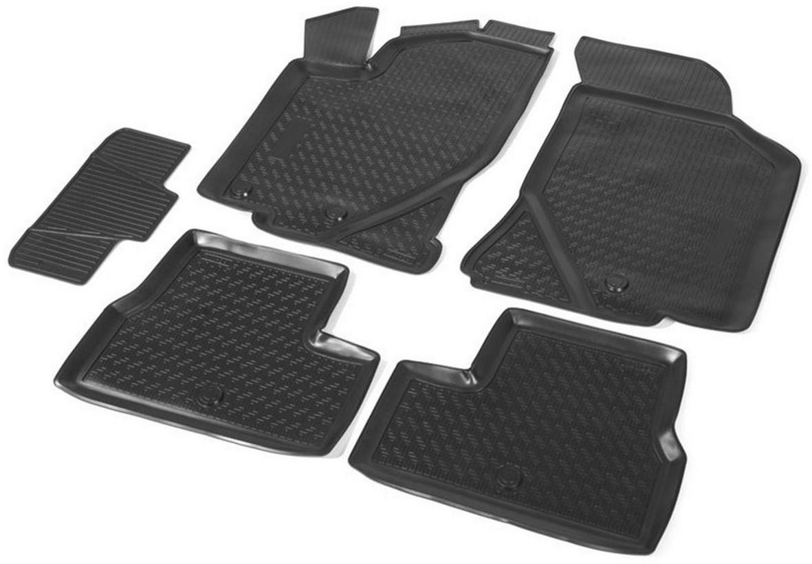 Купить Коврики салона Rival для Lada Granta хэтчбек, седан 2011-, с крепежом, с перемычкой, полиуретан, 5 шт. 16001001