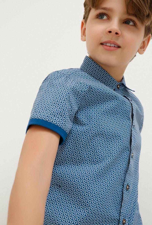 Рубашка для мальчика Acoola Civet, цвет: синий. 20110290030_500. Размер 164