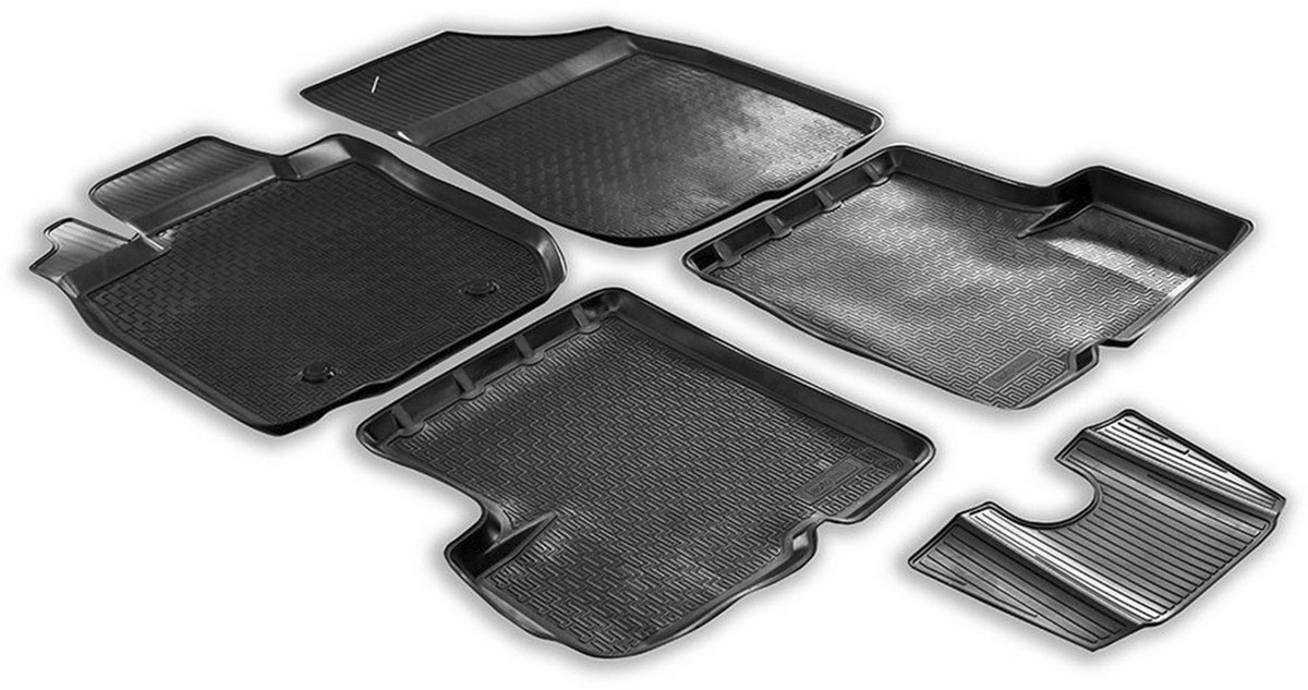 Купить Коврики салона Rival для Renault Duster 4WD 2010-2015, с крепежом, с перемычкой, полиуретан, 5 шт. 14701005