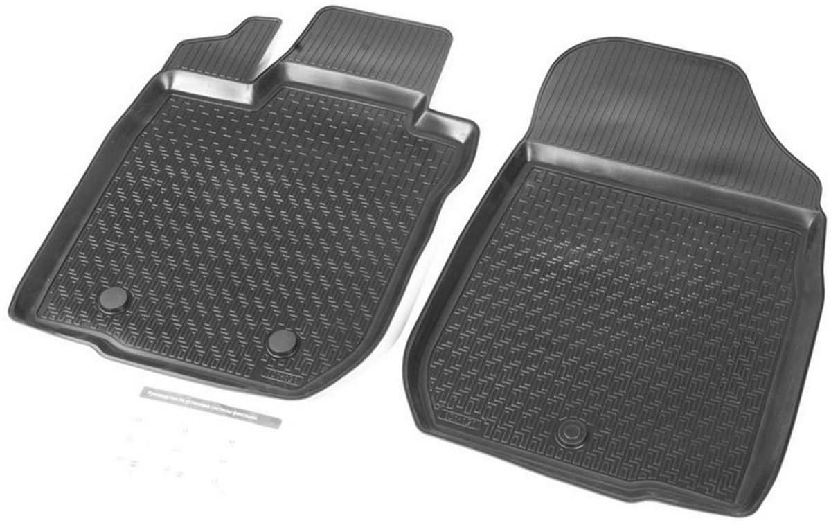 Коврики салона Rival передние для Lada Largus фургон (2 места) 2012-, с крепежом, полиуретан, 2 шт. 16003003