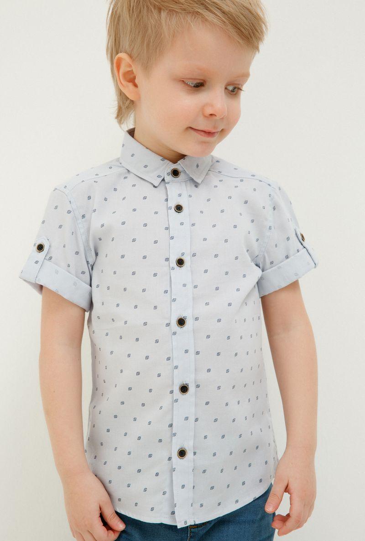 Рубашка для мальчика Acoola Howler, цвет: голубой. 20120290028_400. Размер 110