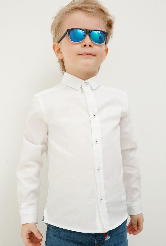 Фото Рубашка для мальчика Acoola John, цвет: белый. 20120280047_200. Размер 128
