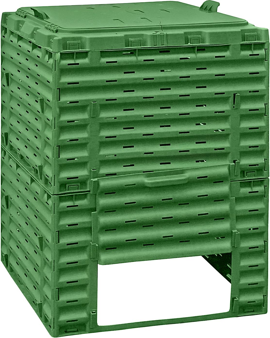 Предназначен для переработки растительных и пищевых отходов в экологически чистый перегной.Объём: 300 лМатериал: морозоустойчивый пластикЦвет: зеленыйПроизводство: Россия