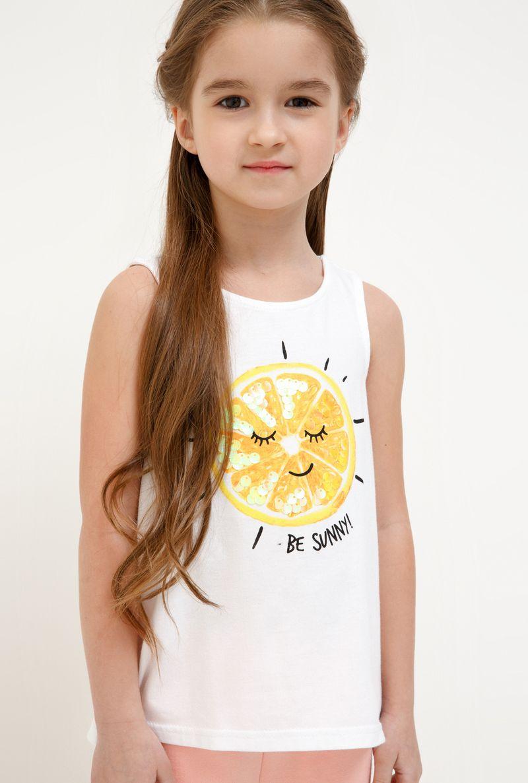Футболка для девочки Acoola Aldan, цвет: белый. 20224220019_200. Размер 9820224220019_200Футболка для девочки Acoola Aldan выполнена из натурального хлопка. Футболка без рукавов и круглым вырезом горловины спереди оформлена ярким принтом. Оригинальный современный дизайн и модная расцветка делают эту футболку стильным предметом детского гардероба. В ней ваша принцесса будет чувствовать себя уютно, комфортно и всегда будет в центре внимания!