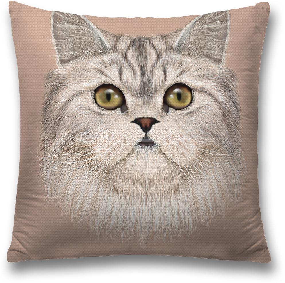 Наволочка декоративная Magic Lady Домашний кот, цвет: серый, 45 x 45 см наволочка декоративная magic lady черная бабочка цвет белый серый 45 x 45 см