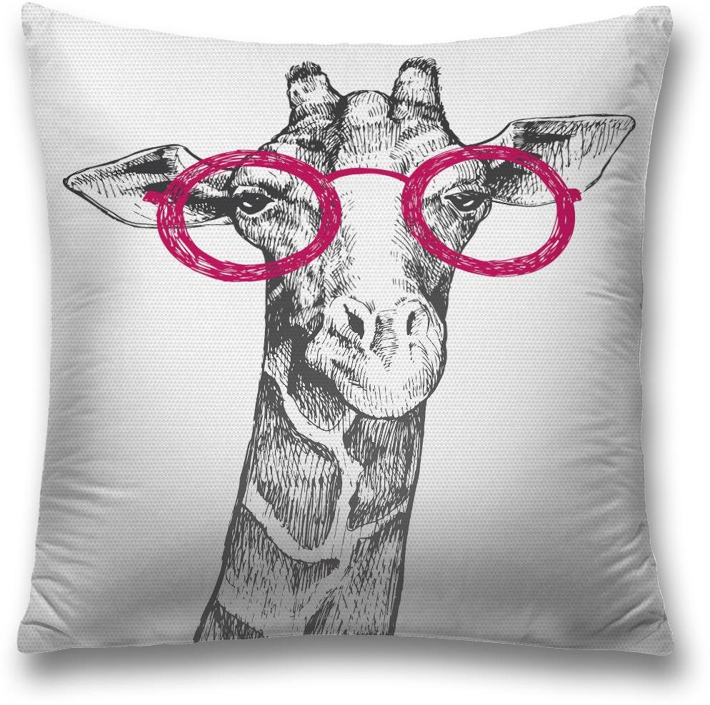Наволочка декоративная Magic Lady Умный жираф, цвет: серый, 45 x 45 смsl_18497Декоративная подушка создаст неповторимый уют и стиль для вашего дома. Наволочка для декоративной подушки изготовлена из прочной ткани (оксфорд) с водонепроницаемым покрытием. Удобная скрытая молния наволочки позволяет легко снимать ее для стирки или замены. Красочный принт на изделии идет с двух сторон. При изготовлении используются специальные гипоаллергенные чернила для прямой печати по ткани, безопасные для человека и животных. Экологичность продукции Magic Lady и безопасность для окружающей среды подтверждены сертификатом Oeko-Tex Standard 100. Внимание! При нанесении сублимационной печати на ткань технологическим методом при температуре 240 °С, возможно отклонение полученных размеров (указанных на этикетке и сайте) от стандартных на + - 3-5 см. Мы стараемся максимально точно передать цвета изделия на наших фотографиях, однако искажения неизбежны и фактический цвет изделия может отличаться от воспринимаемого по фото.