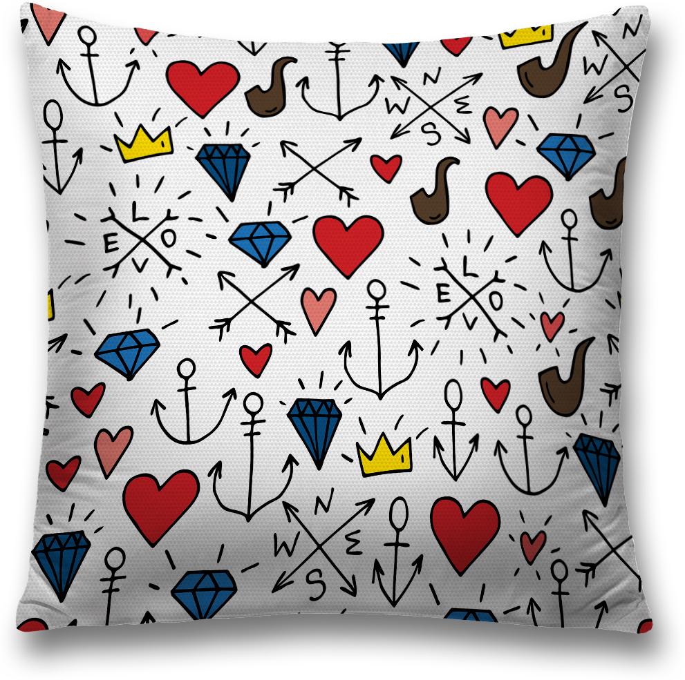 Наволочка декоративная Magic Lady Love-3, цвет: разноцветный, 45 x 45 смsl_2830Декоративная подушка создаст неповторимый уют и стиль для вашего дома. Наволочка для декоративной подушки изготовлена из прочной ткани (оксфорд) с водонепроницаемым покрытием. Удобная скрытая молния наволочки позволяет легко снимать ее для стирки или замены. Красочный принт на изделии идет с двух сторон. При изготовлении используются специальные гипоаллергенные чернила для прямой печати по ткани, безопасные для человека и животных. Экологичность продукции Magic Lady и безопасность для окружающей среды подтверждены сертификатом Oeko-Tex Standard 100. Внимание! При нанесении сублимационной печати на ткань технологическим методом при температуре 240 °С, возможно отклонение полученных размеров (указанных на этикетке и сайте) от стандартных на + - 3-5 см. Мы стараемся максимально точно передать цвета изделия на наших фотографиях, однако искажения неизбежны и фактический цвет изделия может отличаться от воспринимаемого по фото.