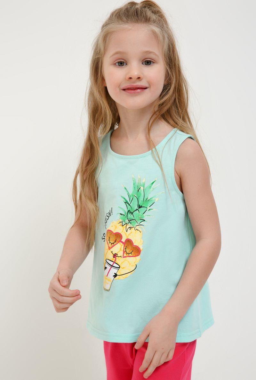 Футболка для девочки Acoola Aldan, цвет: голубой. 20224220019_400. Размер 11620224220019_400Футболка для девочки Acoola Aldan выполнена из натурального хлопка. Футболка без рукавов и круглым вырезом горловины спереди оформлена ярким принтом. Оригинальный современный дизайн и модная расцветка делают эту футболку стильным предметом детского гардероба. В ней ваша принцесса будет чувствовать себя уютно, комфортно и всегда будет в центре внимания!