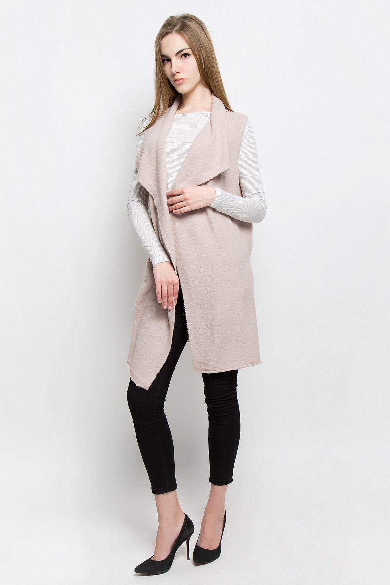 Жилет женский Broadway Tayla, цвет: светло-бежевый. 10156933_055. Размер XS (42) пуловеры broadway пуловер