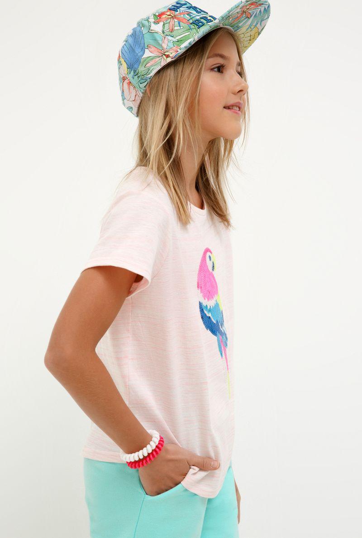 Футболка для девочки Acoola Frase, цвет: светло-розовый. 20210110136_3400. Размер 164 футболка для девочки acoola aldan цвет белый 20214220019 200 размер 164