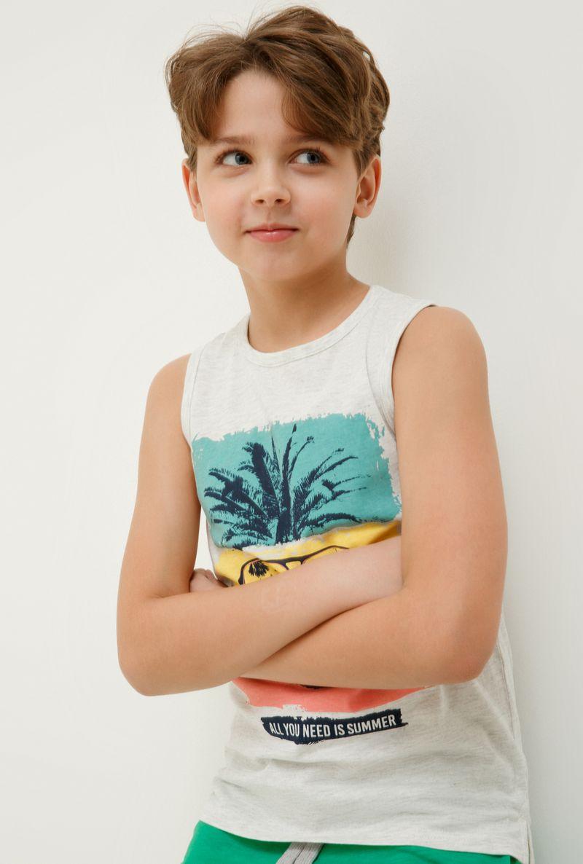 Футболка для мальчика Acoola Camu, цвет: светло-серый. 20114220015_1800. Размер 158 футболка для мальчика acoola remark цвет светло бежевый 20110110105 300 размер 170