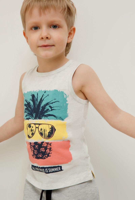 Футболка для мальчика Acoola Camu, цвет: светло-серый. 20124220014_1800. Размер 122 футболка для мальчика acoola carroll цвет зеленый 20120110113 2300 размер 122