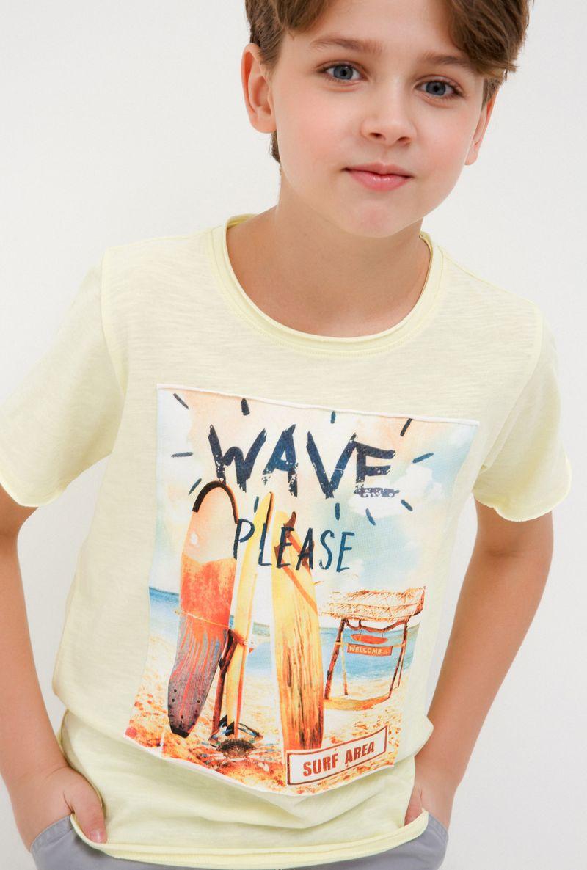 Футболка для мальчика Acoola Hemingway, цвет: желтый. 20110110104_1200. Размер 146 футболка для мальчика acoola silva цвет мультиколор 20120110094 9000 размер 116