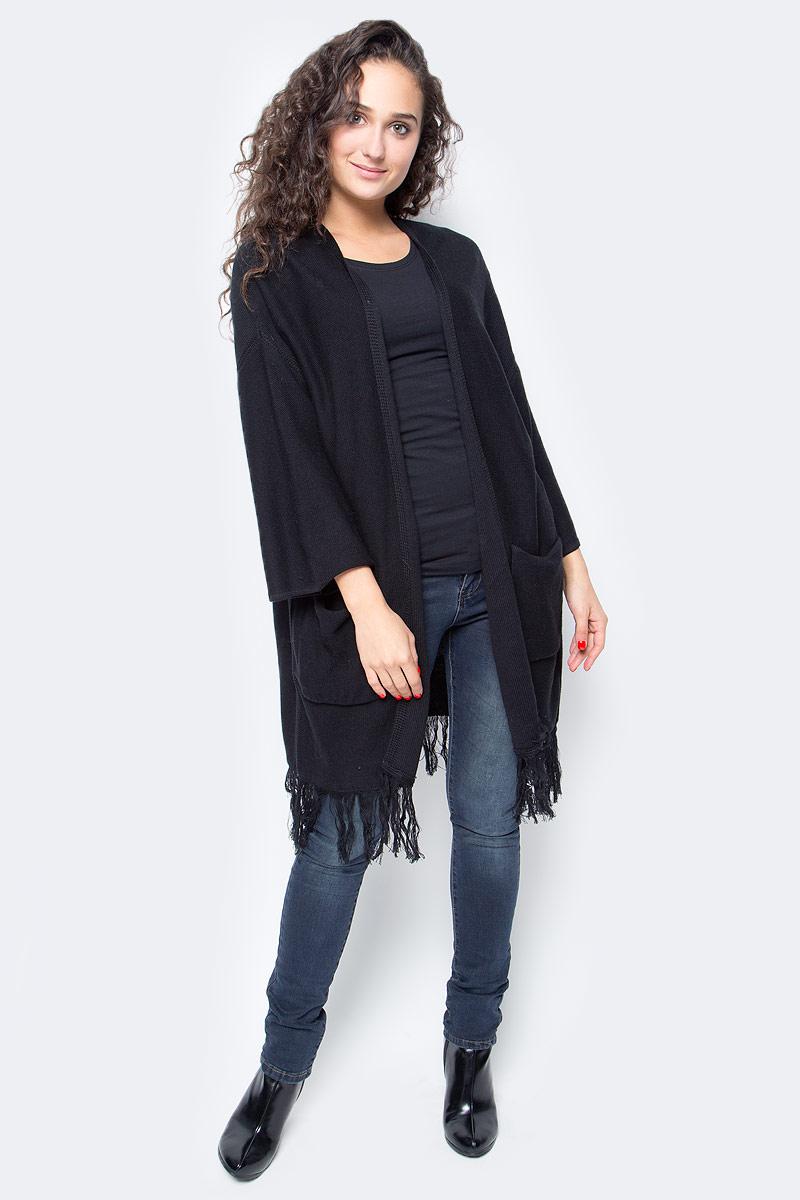 Кардиган женский Baon, цвет: черный. B147507_Black. Размер M (46)