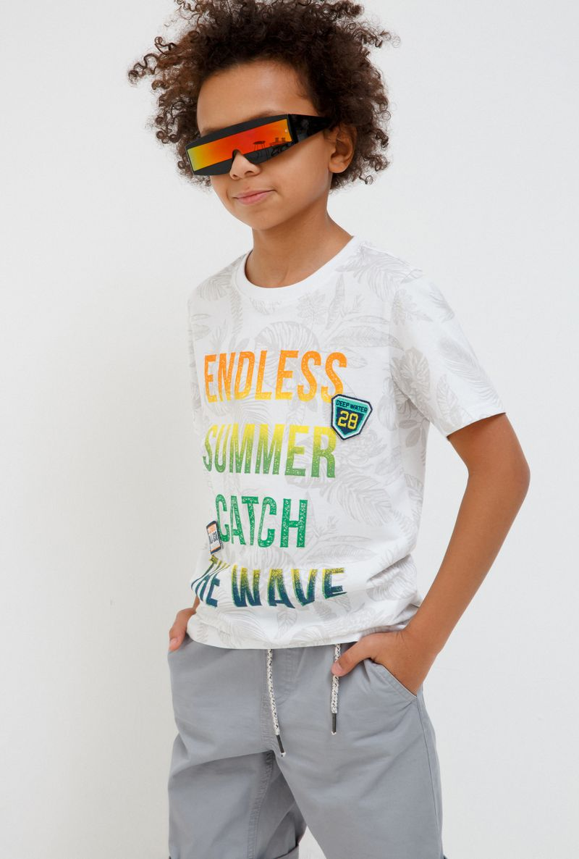 Футболка для мальчика Acoola Remark, цвет: светло-бежевый. 20110110105_300. Размер 170 футболка для мальчика acoola carroll цвет зеленый 20120110113 2300 размер 122