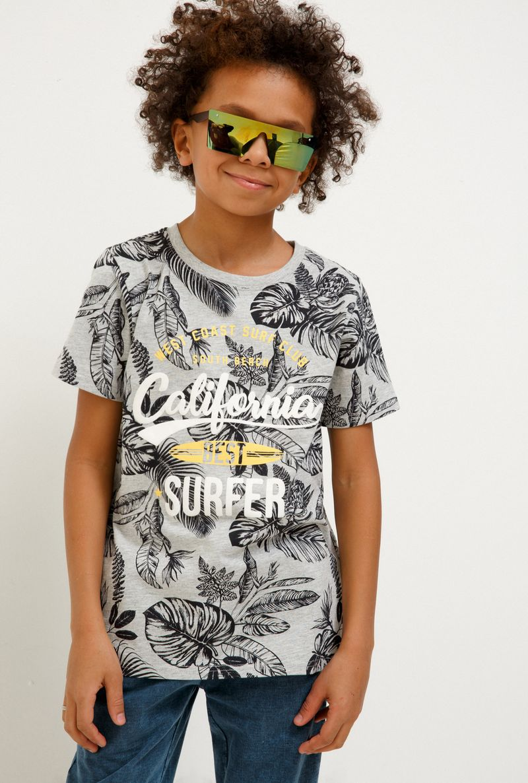 Футболка для мальчика Acoola Selinger, цвет: светло-серый. 20110110109_1800. Размер 164 футболка для мальчика acoola remark цвет светло бежевый 20110110105 300 размер 170