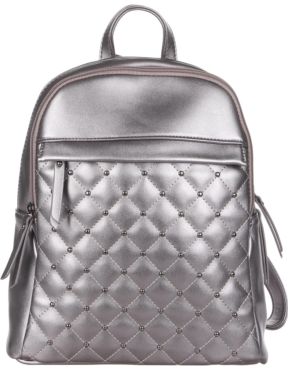 Рюкзак женский OrsOro, цвет: черненное серебро, 28 x 32 x 13 см. DS-844/4