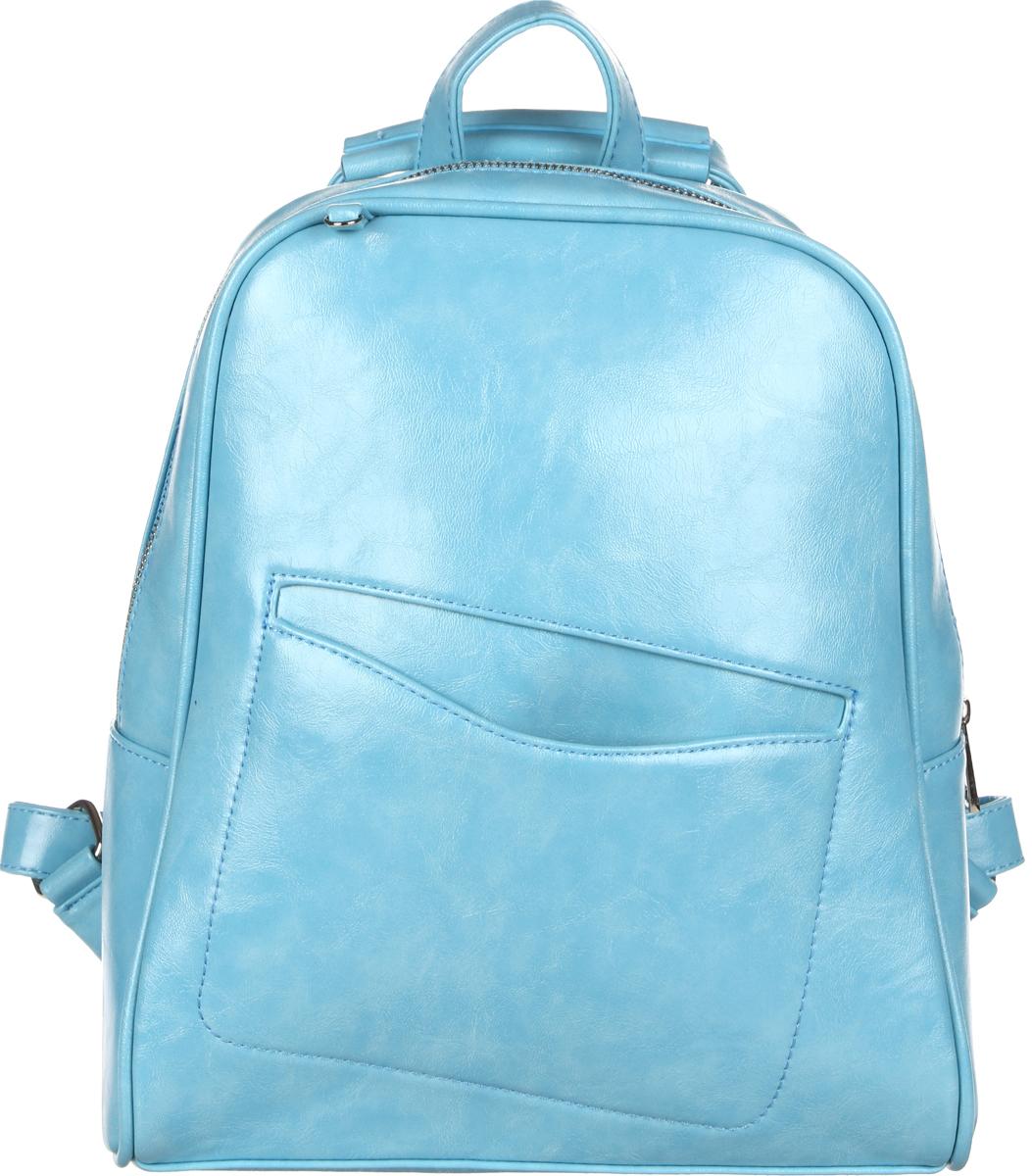Рюкзак женский OrsOro, цвет: мятный, голубой, 28 x 32 x 10 см. DS-845/2