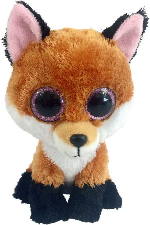 Teddy Мягкая игрушка Лисичка цвет коричневая 15 см teddy мягкая игрушка собака в голубом пиджаке 18 см