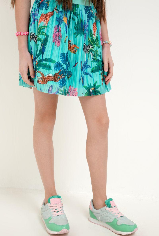 Юбка для девочки Acoola Loris, цвет: бирюзовый. 20210180075_3100. Размер 164