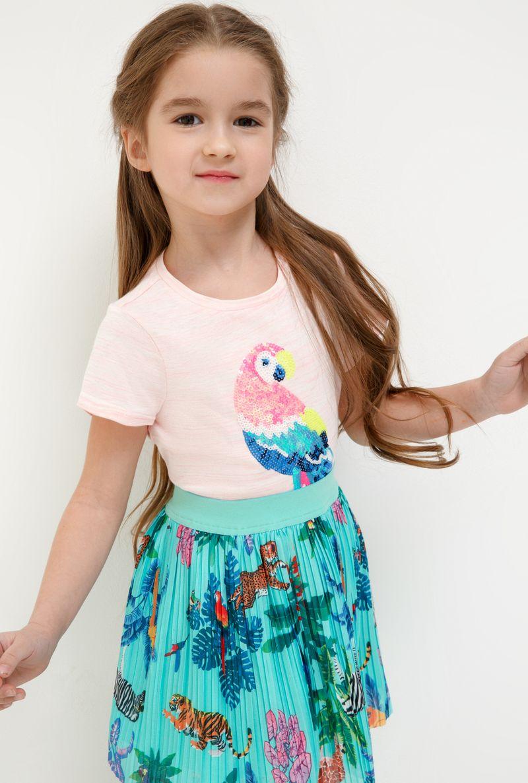 Юбка для девочки Acoola Loris, цвет: бирюзовый. 20220180073_3100. Размер 128