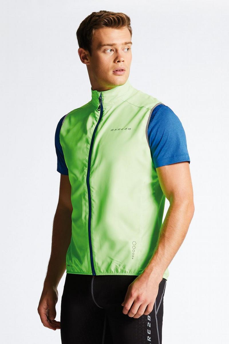 Велокуртка мужская Dare 2b Fired Up II Vest, цвет: зеленый. DML367-1FR. Размер 3XL (62) тайтсы dare 2b dare 2b da017ewaxbe6