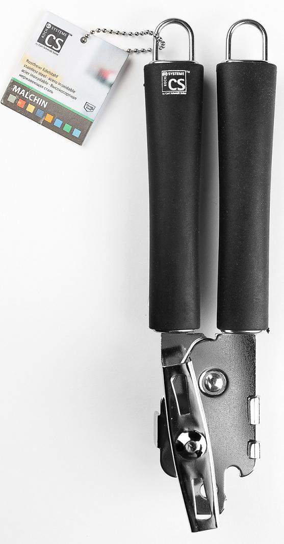 """Консервный нож """"Malchin"""" изготовлен из нержавеющей стали, с эргономичными ручками.  Пользоваться металлическими мочалками, абразивными чистящими средствами и средствами с хлором не рекомендуется. Мыть предметы из нержавеющей стали рекомендуется обычной губкой и жидким моющим средством. После мытья, чтобы избежать образования известкового налета, предметы из нержавеющей стали необходимо насухо вытирать мягкой впитывающей тканью."""