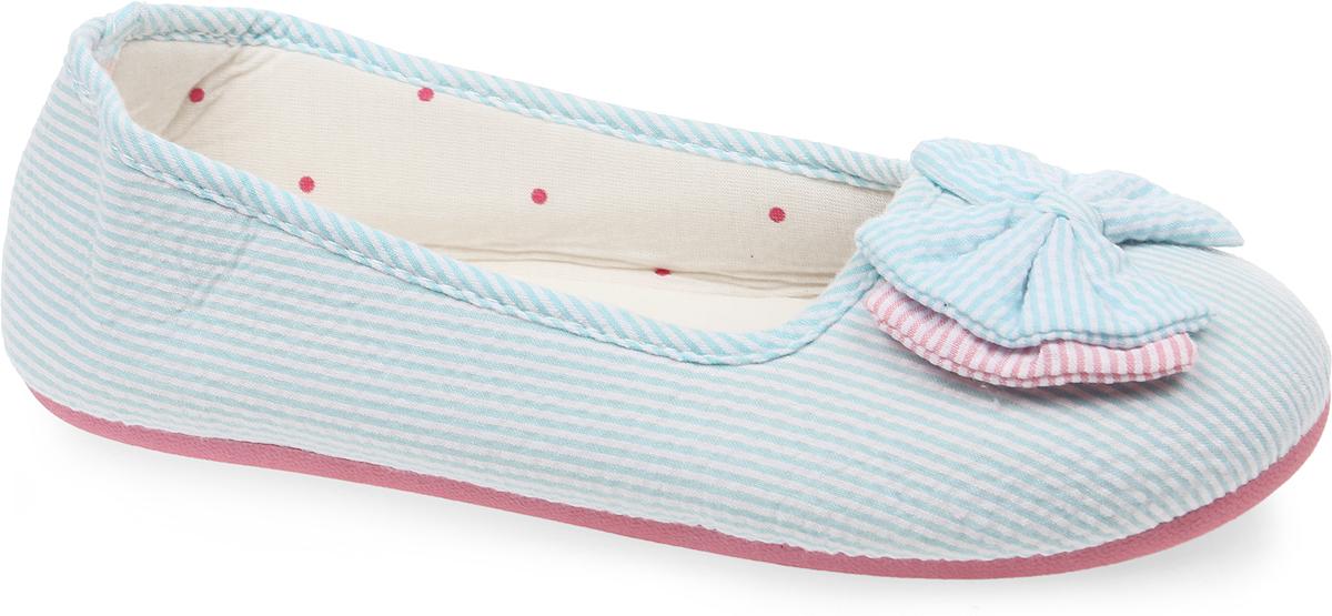 Тапки-балетки женские Kawaii Factory Бантики, цвет: голубой. KW036-000126. Размер 39