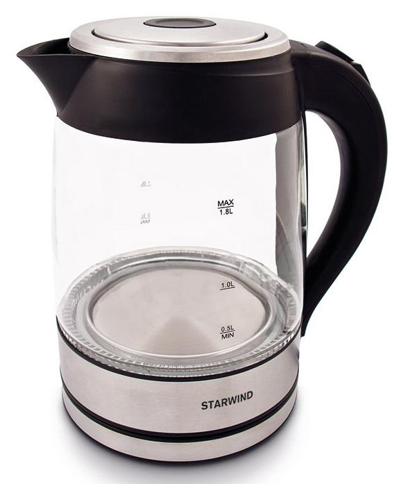Starwind SKG4710, Silver Black чайник электрический блендер starwind stb7586 черный серебристый